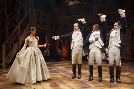 Carleigh Bettiol, Lin-Manuel Miranda, Leslie Odom Jr., Anthony Ramos