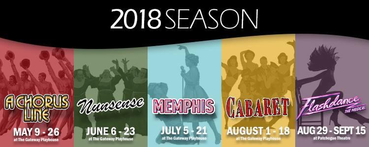 The Gateway Playhouse 2018 Season